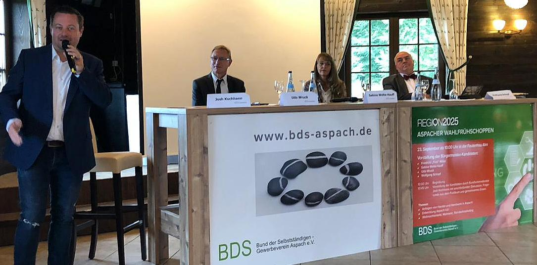 v.l.n.r.: Josh Kochhann, Udo Wruck, Sabine Welte-Hauff und Wolfgang Schopf