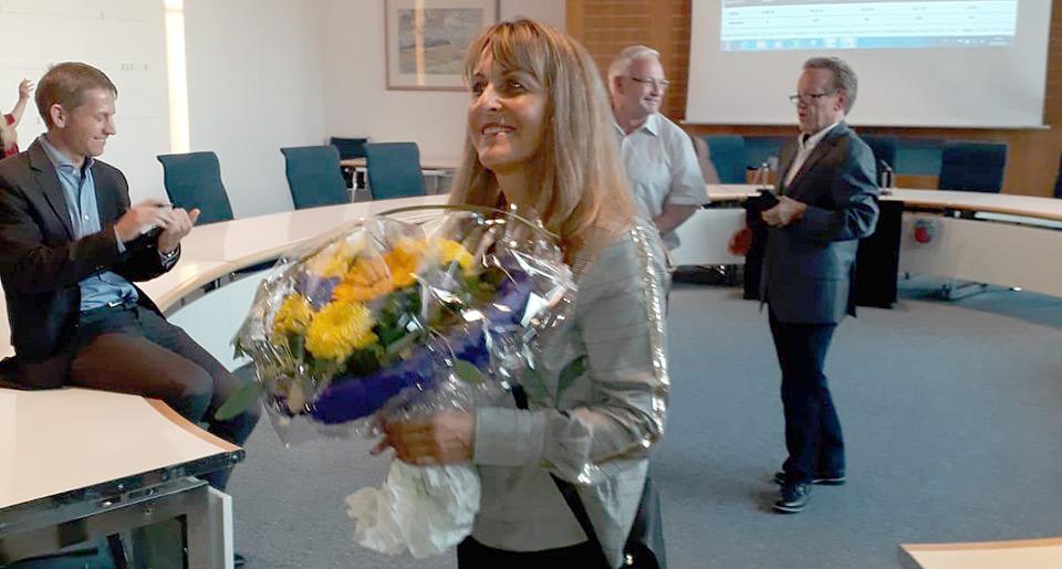 Gewinnerin der Wahl Sabine Welte-Hauff